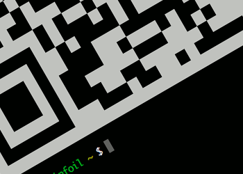 A QR code on the command line